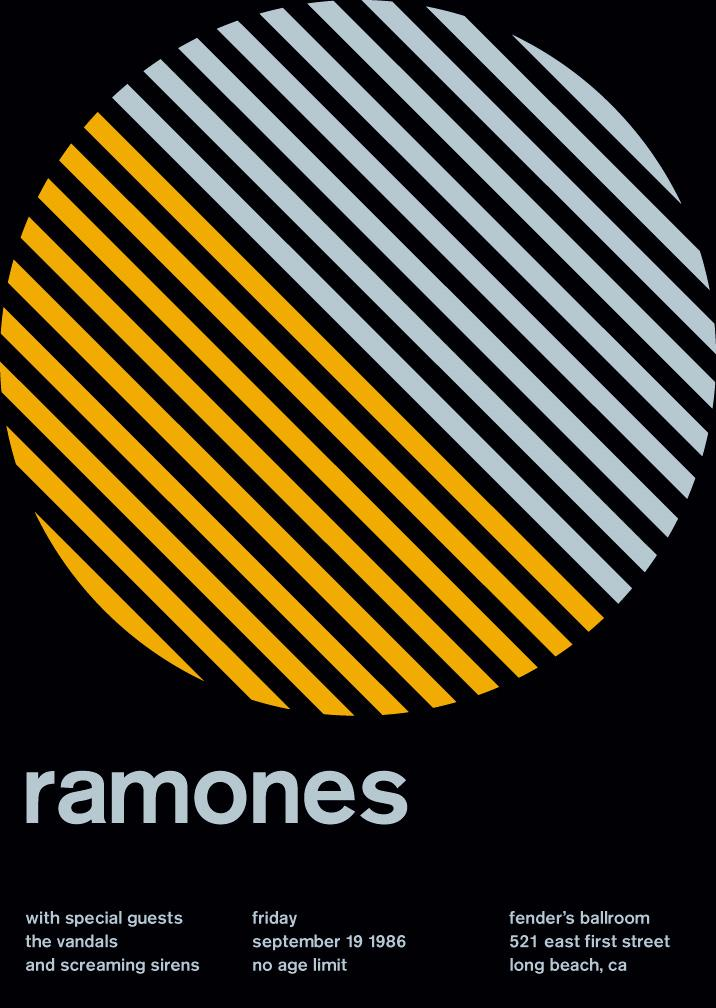 ramones at fender's ballroom, 1986 - swissted