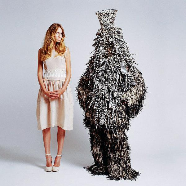 Creature Couture by Ted Sabarese & Sculpture by Nick Cave | Trendland: Fashion Blog & Trend Magazine
