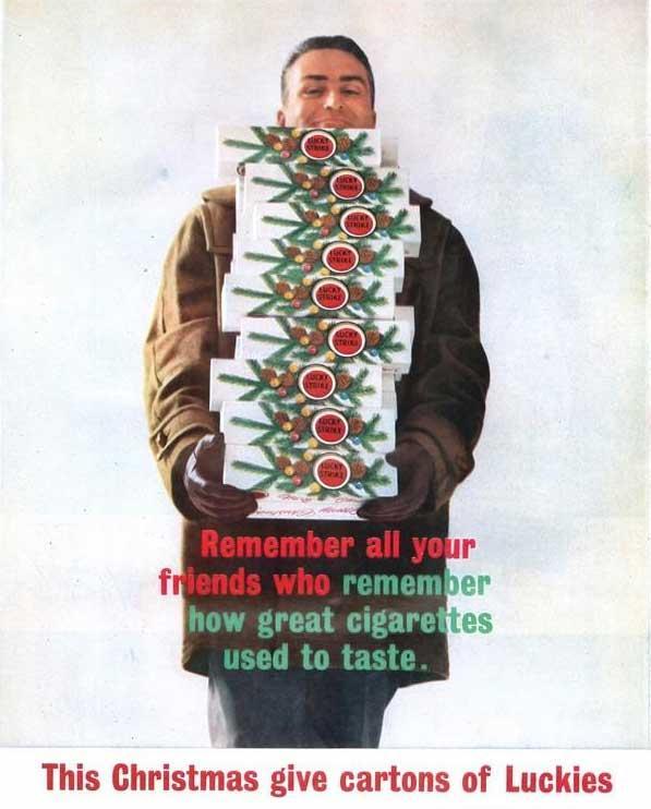 "Raymond Loewy's Lucky Strike ""Christmas Carton"" - box vox"