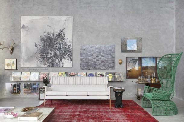 Mostra Black Flat Art Interior Design by Guilherme Torres