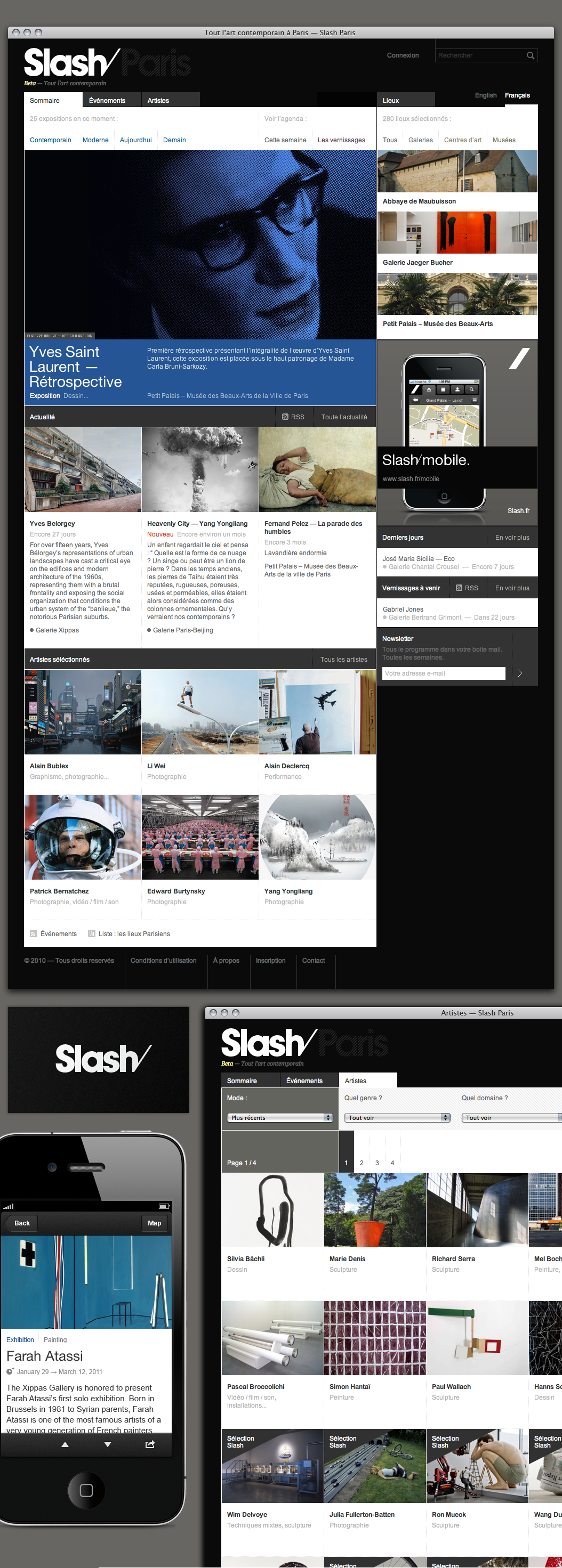 Slash Brand, Website and Mobile — Work — AREA 17