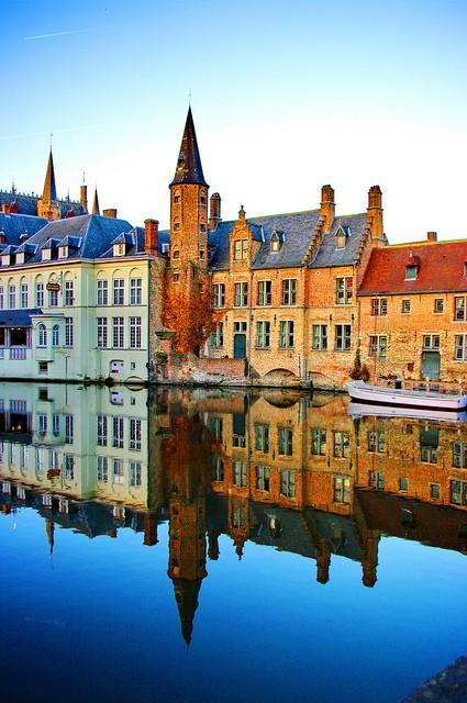 When I win the Lotto.... / River Reflection, Bruges, Belgium