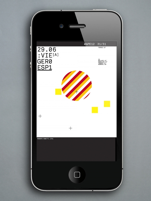 Designspiration — Creative Review - Accept & Proceed's Euro 2012 screensavers