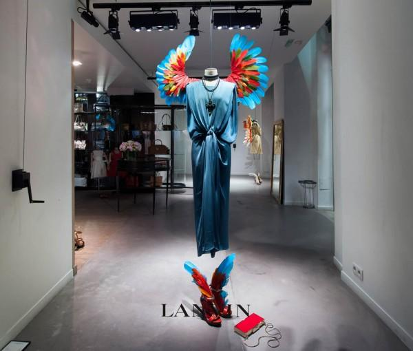 Lanvin Birds of Paradise Windows | Trendland: Fashion Blog & Trend Magazine