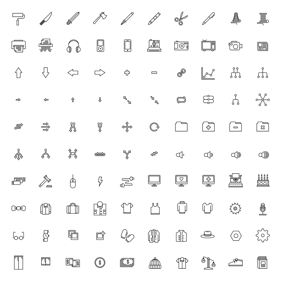 Tim Boelaars — Monicons 2 – 100 icons