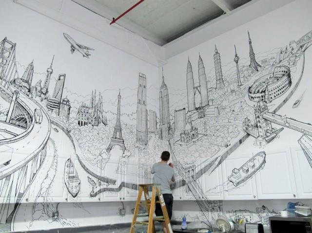 Global City Wall Painting – Fubiz™