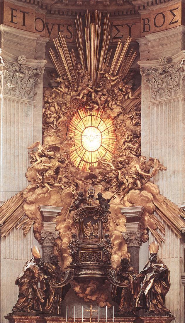 Le Trône de Saint-Pierre 1 par Gian Lorenzo Bernini