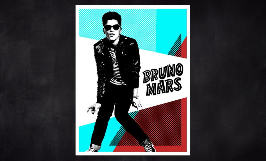Bruno Mars - Kyle White / Graphic Design Portfolio