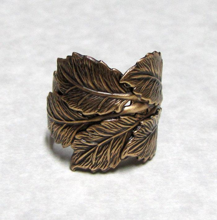 Leaves of the Forest Ring by ranaway on Etsy