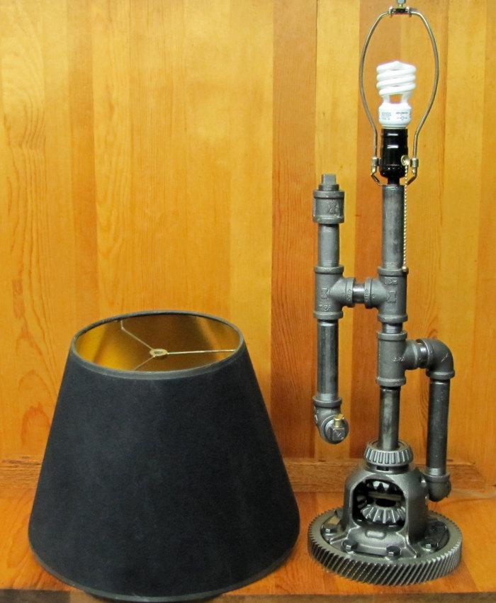 Steampunk Table Lamp OOAK by ranaway on Etsy