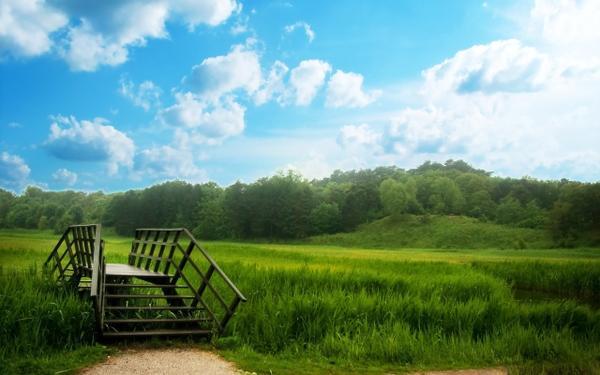 clouds,nature clouds nature trees grass fields bridges 2560x1600 wallpaper – Bridges Wallpaper – Free Desktop Wallpaper