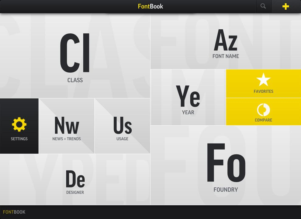 FontBook / FontShop | Design Graphique