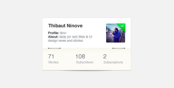 Profile box | Ui Parade – User Interface Design Inspiration