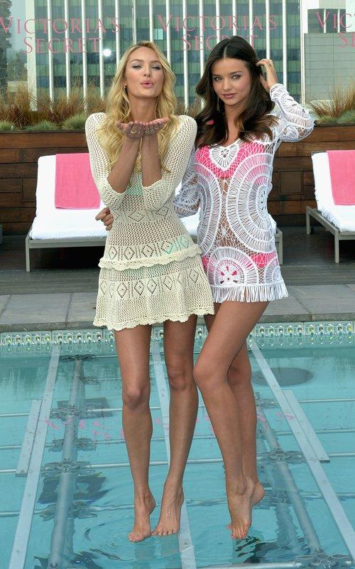Miranda Kerr with Candice Swanepoel | Celebrity-gossip.net