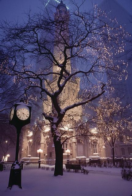 a CHRISTMAS carol / Chicago in Snow by josullivan.59, via Flickr