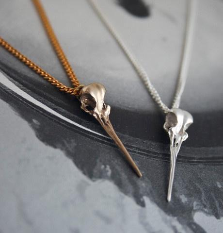 Adorn. / Hummingbird Skull Necklace
