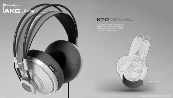 AKG headphone on