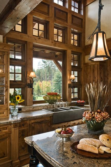 Appetite for Cooking Spaces / Amazing...I love the rustic wall of windows!