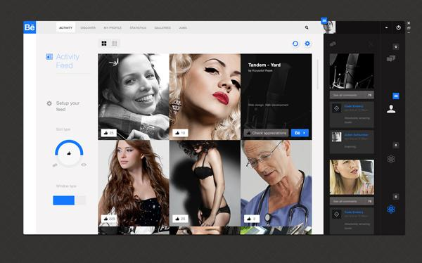 Behance Feed App ( Concept ) on