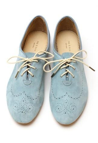 BLUE DREAMING BLUE / baby blue oxfords