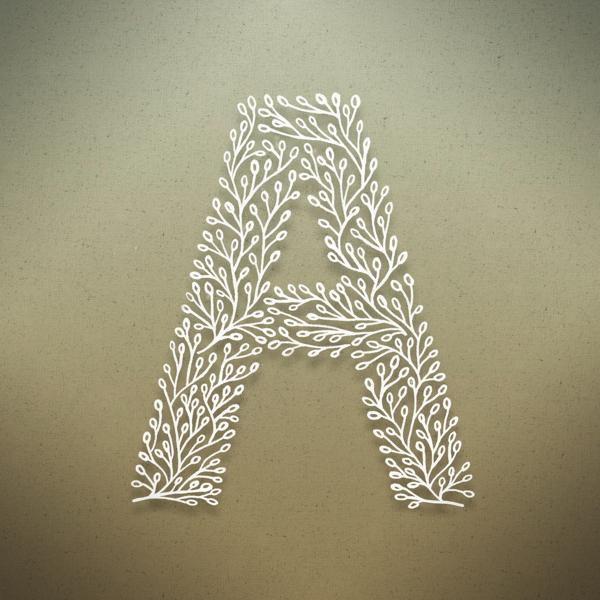 Botanical Alphabet on
