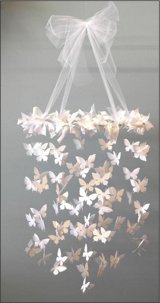 C R A F T Y ? / DIY: Swarming Butterfly Chandelier