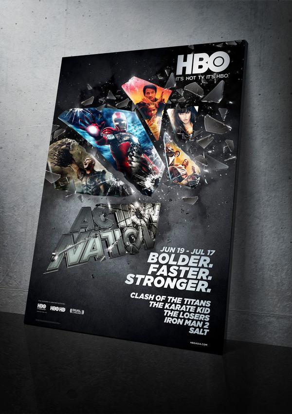 Campagne HBO Nation action sur le réseau