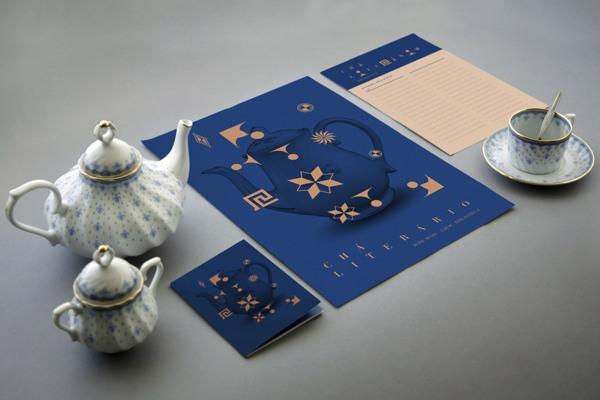 Chá Literário — Visual Identity on