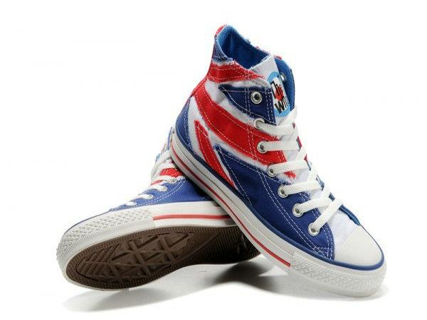 Converse UK Flag High Top Blue Canvas White Red Flag ... | SHoes & Bo…