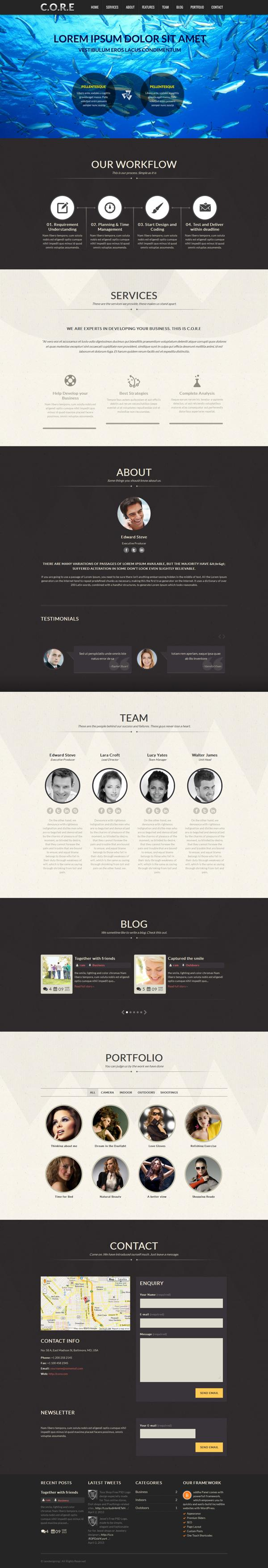 Core - Responsive One Page WordPress Theme on