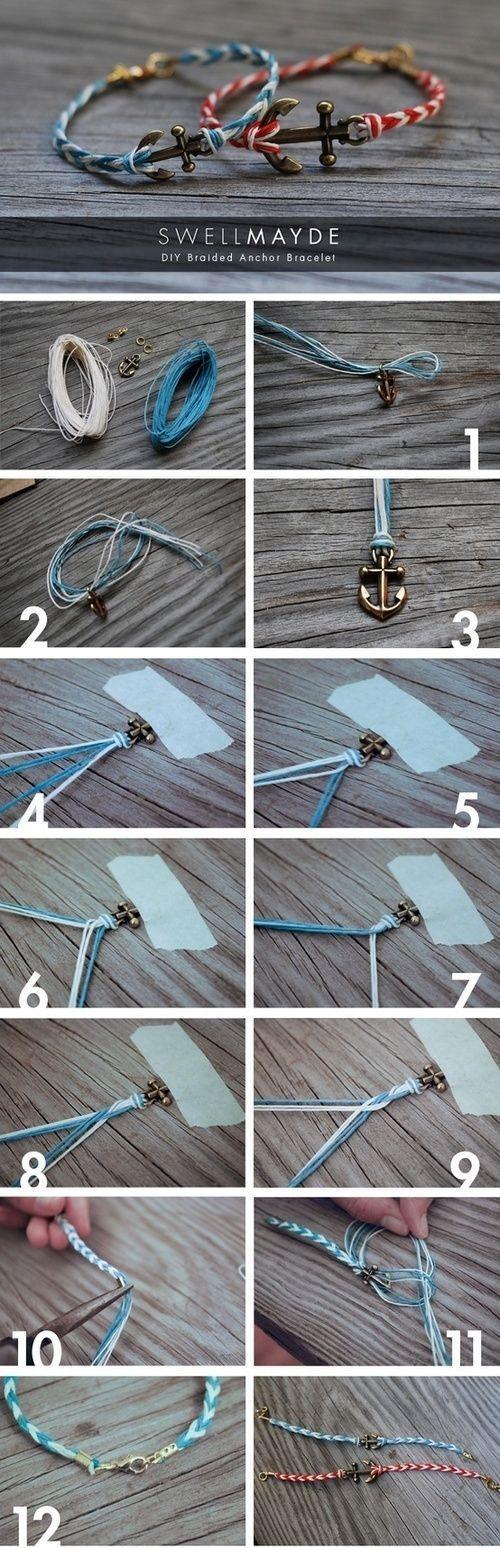 DIY anchor bracelet by Banphrionsa. | Nautical