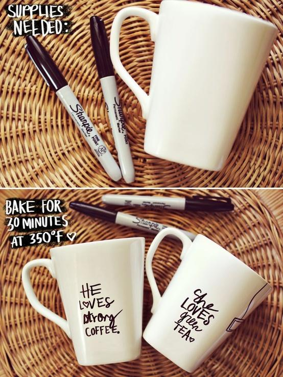DIY / His + Her Sharpie Mug DIY