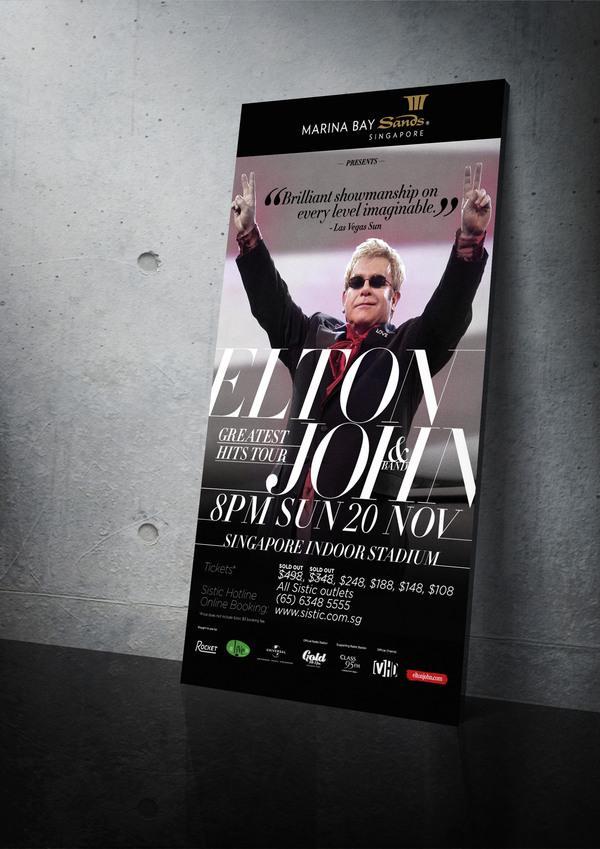 Elton John & Band, le plus grand Concert Hits, de Singapour sur le réseau