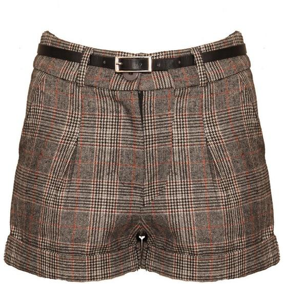 Fall Fashions / Grey Checked Belted Shorts ($24) ? liked on Polyvore