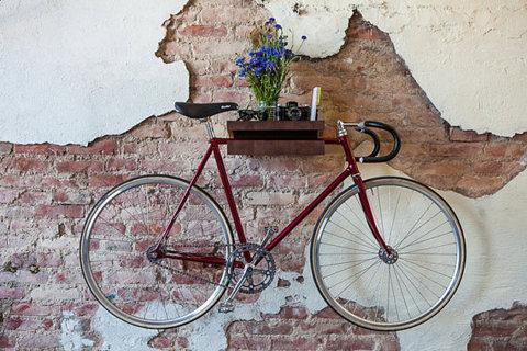 FIXA multi functional wood bike shelf holder by ChromeLtd on Etsy