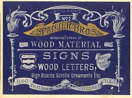 Spanjer Bros. Wood Letters