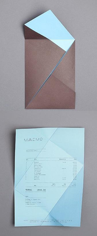 Foldings / folding receipt, Maaemo identity by Bureau Bruneau — Designspiration