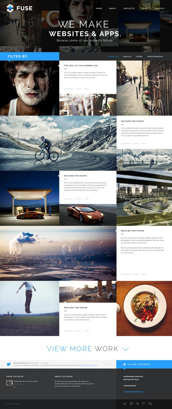 Fuse - Portfolio and Small Agency PSD Template on