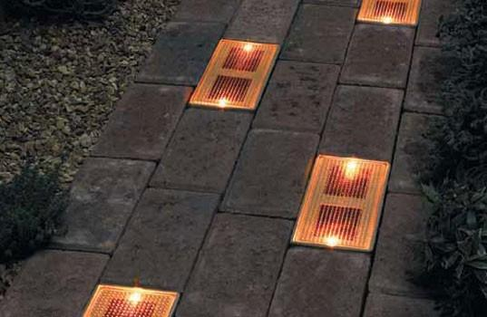 Garden / Sun Bricks, the solar-powered ground lighting system.