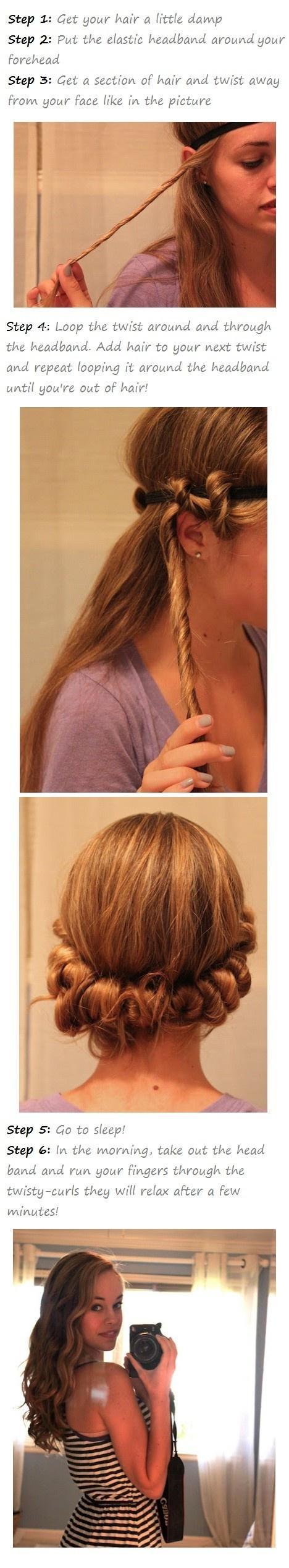 Hair / overnight wavy hair