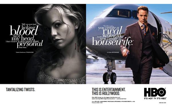 HBO Asie campagne publicitaire commerce / marque 2009 sur le réseau