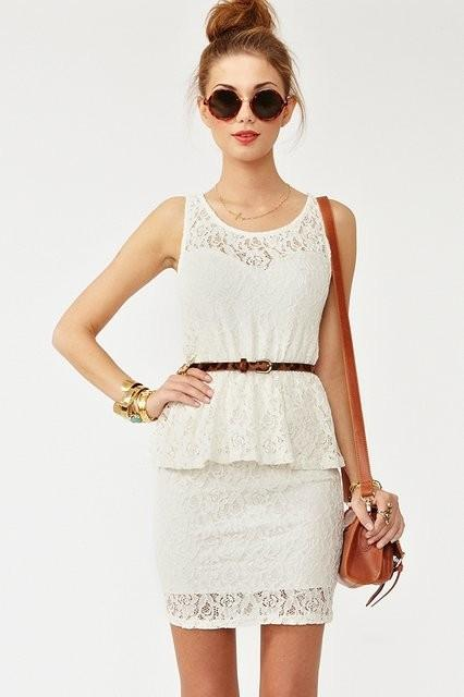 if i had all the money in the world.. / Peplum Dress