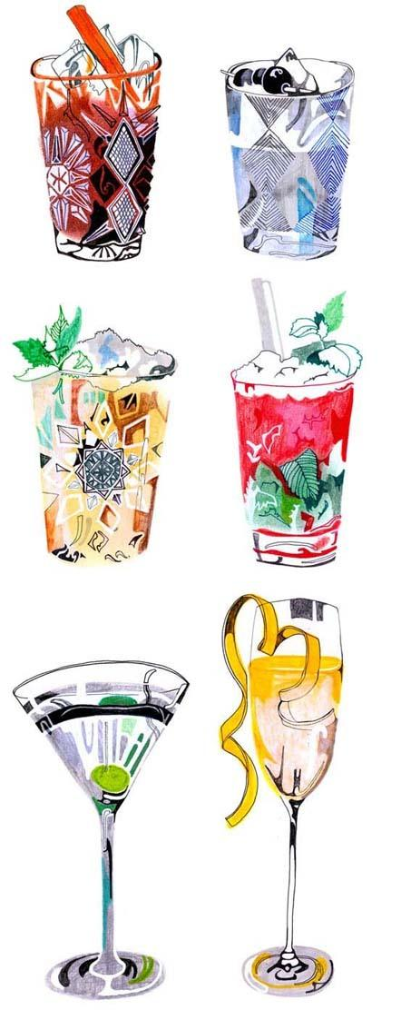 Illustration / Cocktails Illustration — Designspiration