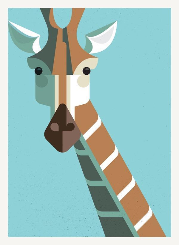 Illustration / Giraffe Portrait — Designspiration