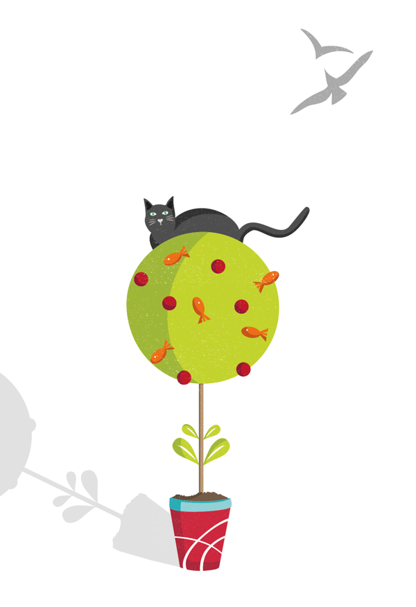 Illustration- Pepper the Cat and the Magic Tree on
