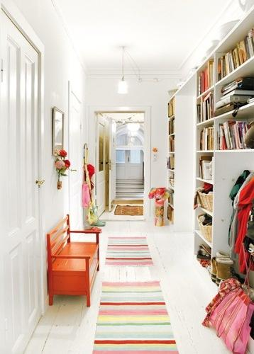 Inspiring Spaces / white and colorful all at once! LOVE this!