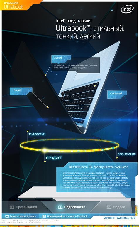 Intel Ultabook interactive stand