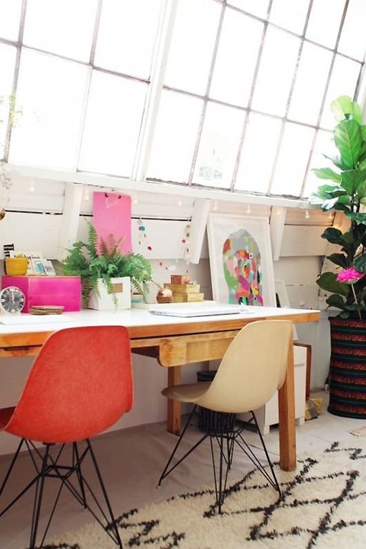 interior design colorful eames chairs designspiration