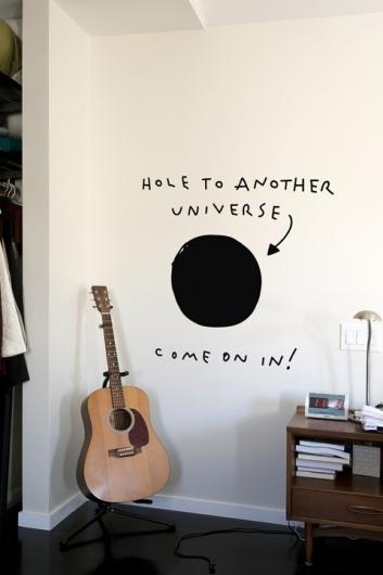 Hole to another universe. Come on in.