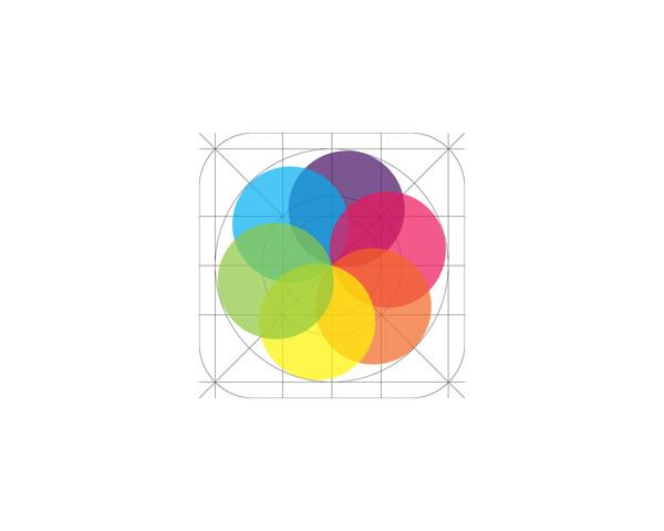 iOS7 Icon Grid Template on